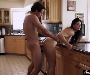 Amazing milf pounded by her..